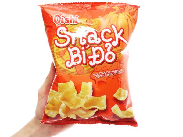 Oishi Snack Pumpkin Grilled Beef Flavour 40G 1