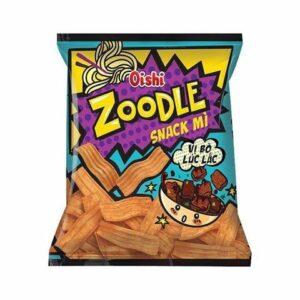 Oishi Zoodle Beef Rattles Flavor Snack 40g x 60 Bag
