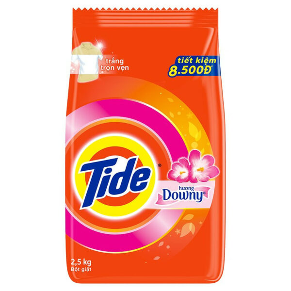 Tide Downy Detergent Powder 2.5kg x 5 Bags